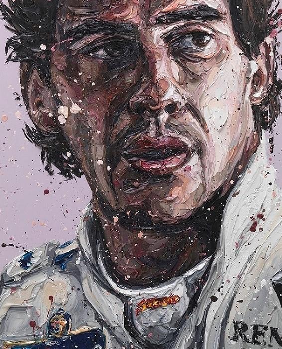 Senna Williams 18 (Ayrton Senna) - Canvas  - Framed by Paul Oz
