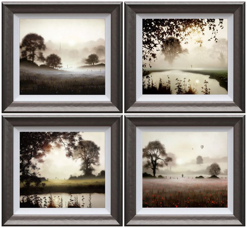 Set Of Four Christmas Releases - Framed by John Waterhouse