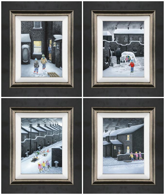Set Of Four Winter Releases 2019 - Canvas - Framed by Leigh Lambert
