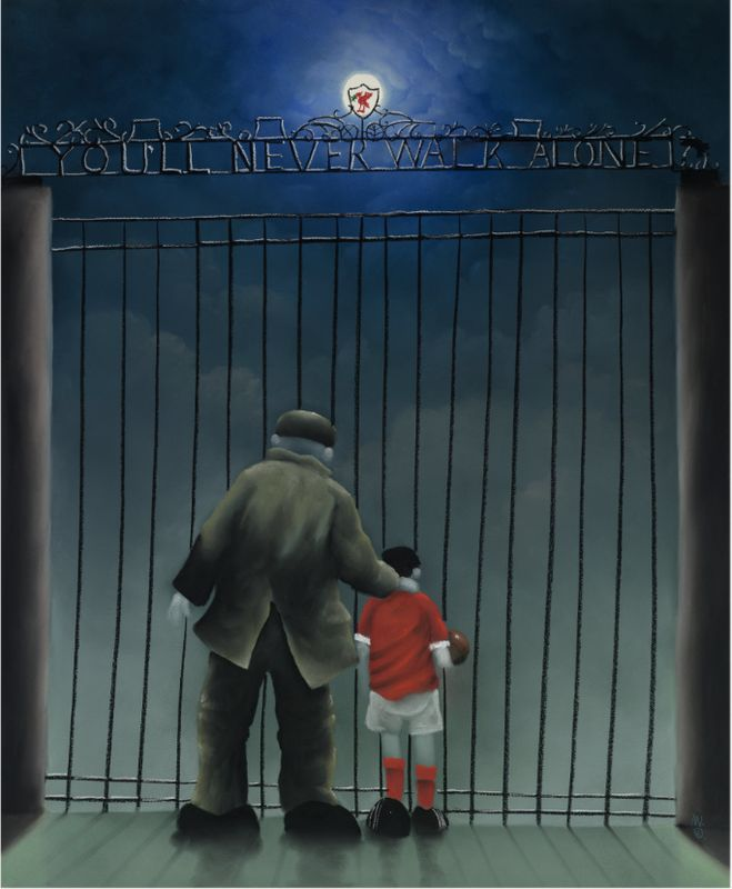 Shankly Gates - Mounted by Mackenzie Thorpe