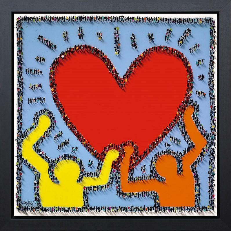 Share The Love - Framed Box Canvas by Craig Alan