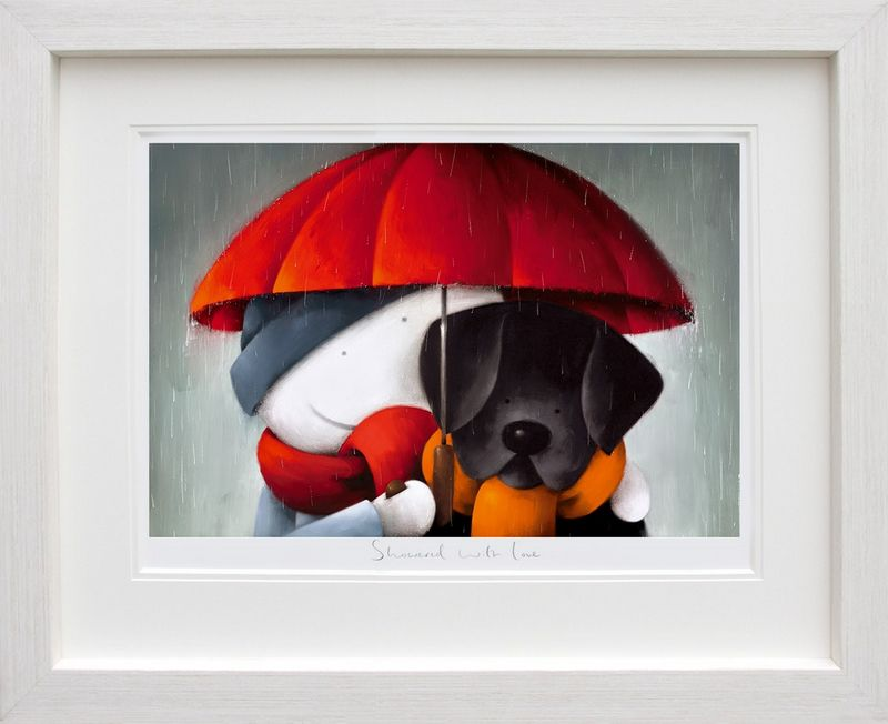 Showered With Love - Picture - In White - Framed by Doug Hyde