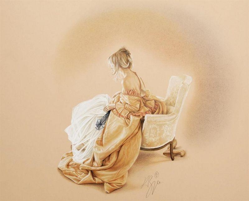 Sitting Pretty - Mounted by Kay Boyce
