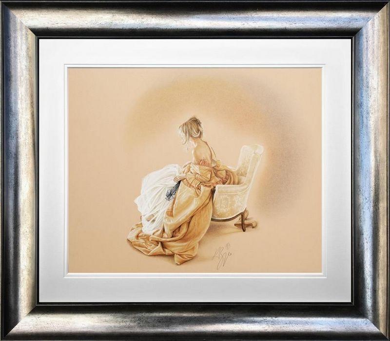 Sitting Pretty - Original  - Framed by Kay Boyce