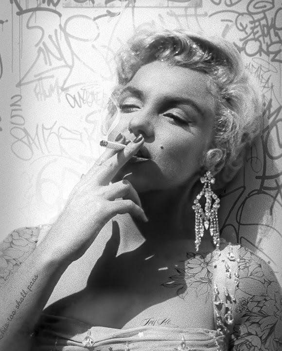 Smoking Gun - Marilyn (BW) by JJ Adams