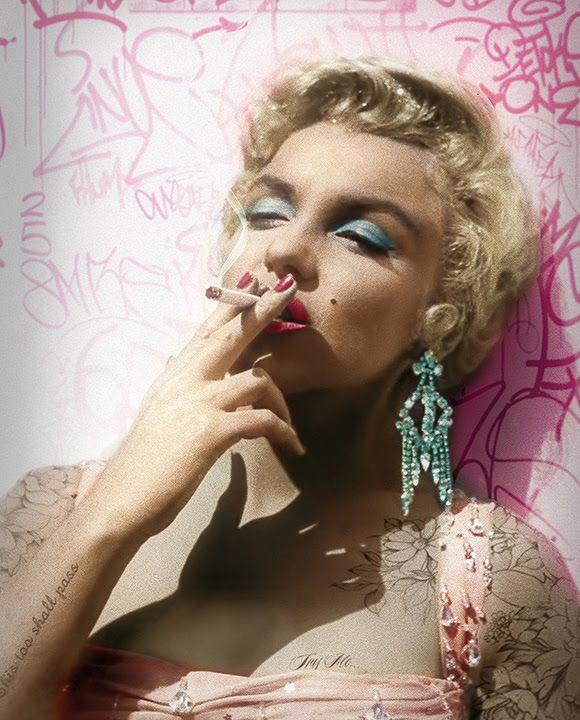 Smoking Gun - Marilyn (Colour) - Artist Proof - Mounted by JJ Adams