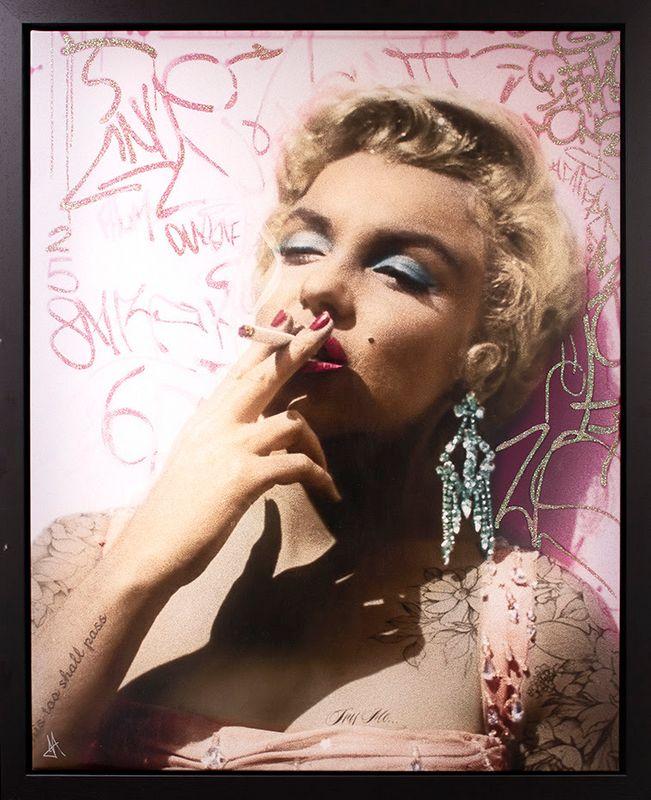 Smoking Gun - Marilyn (Colour) - Original - Black - Framed by JJ Adams