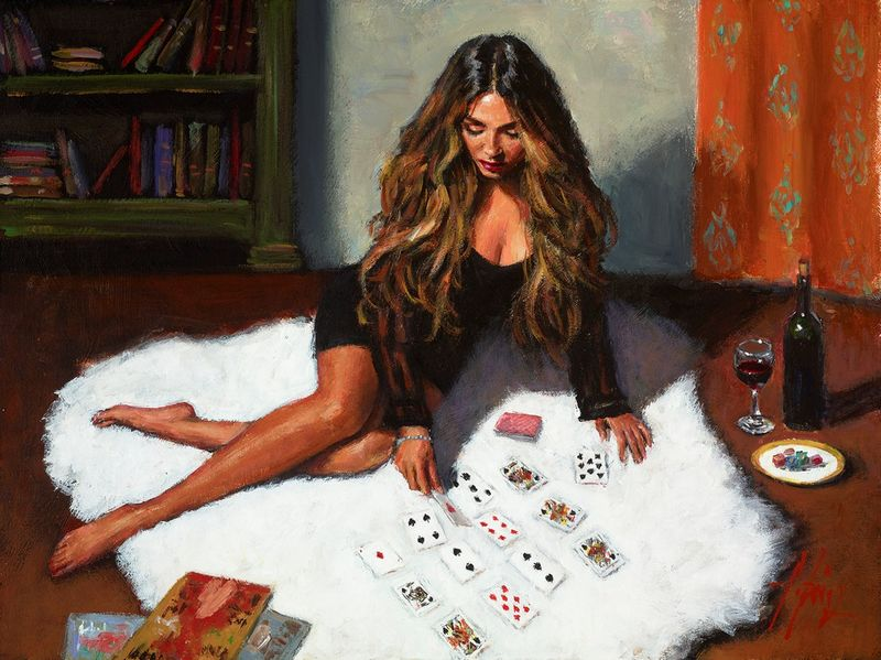 Solitaire by Fabian Perez