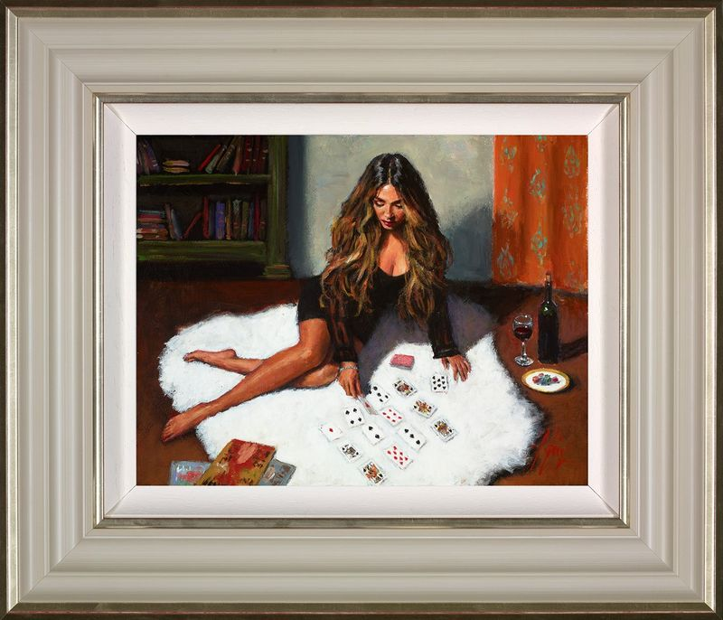 Solitaire - Cream - Framed by Fabian Perez