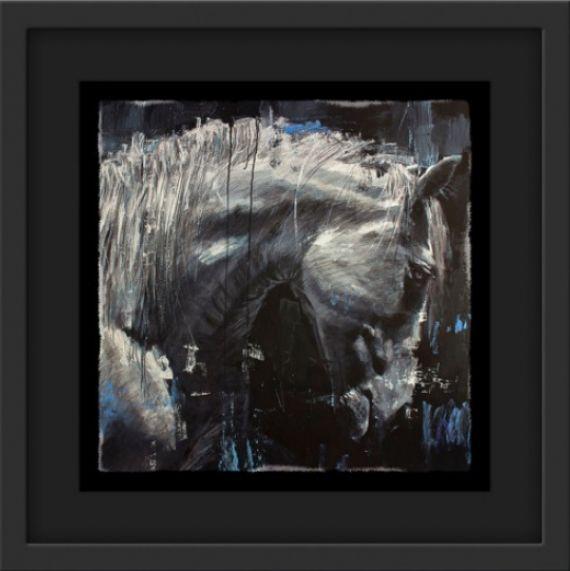 Solomon - Black - Framed by Rob Hefferan
