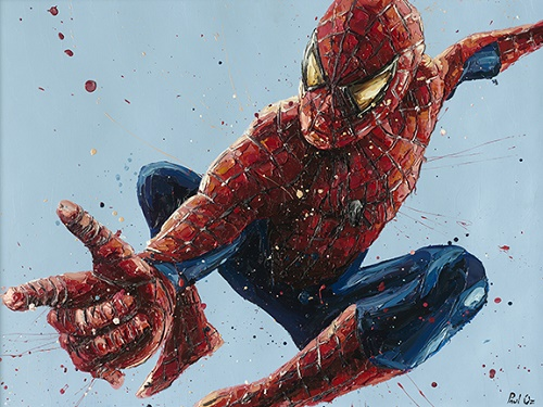 Spiderman 2 - Canvas - Framed by Paul Oz