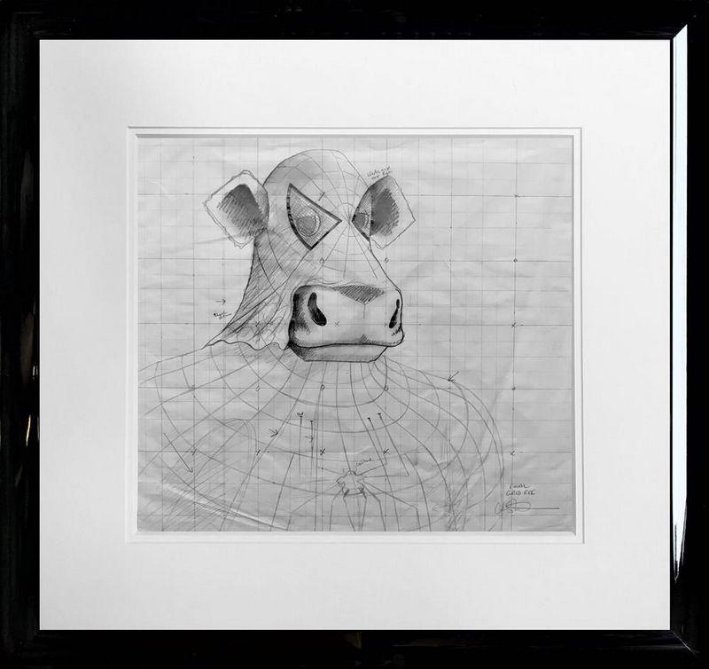 Spidermoo - Original Sketch - Framed by Caroline Shotton