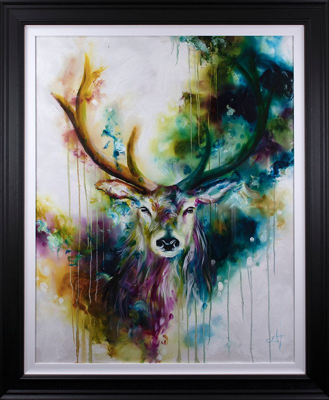 Stag 2019 - Artist Proof - Framed by Katy Jade Dobson
