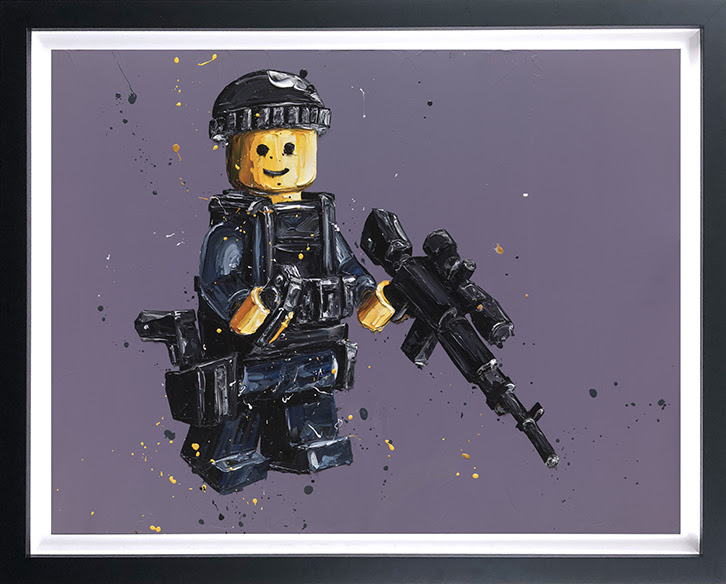 Stand By (Lego) - Canvas - Framed by Paul Oz