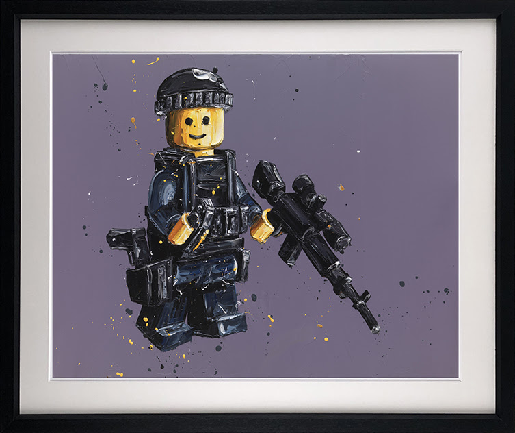 Stand By (Lego) - Framed by Paul Oz