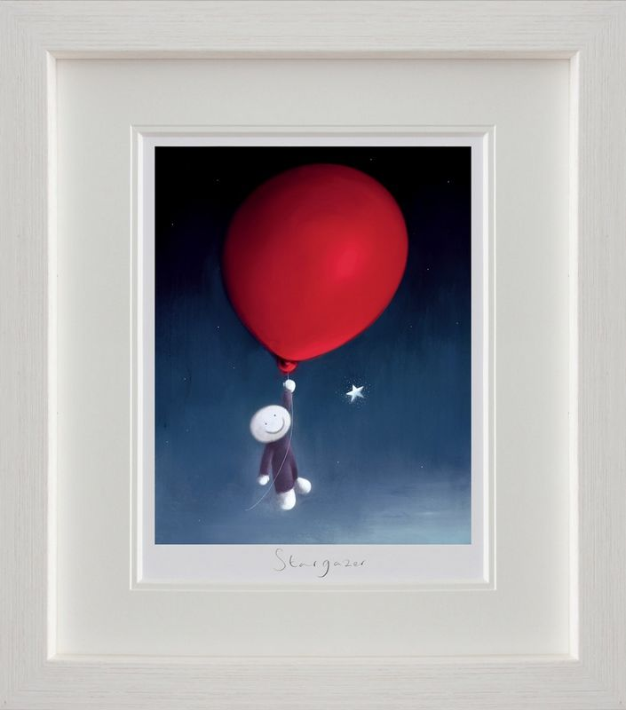 Star Gazer - White Framed by Doug Hyde