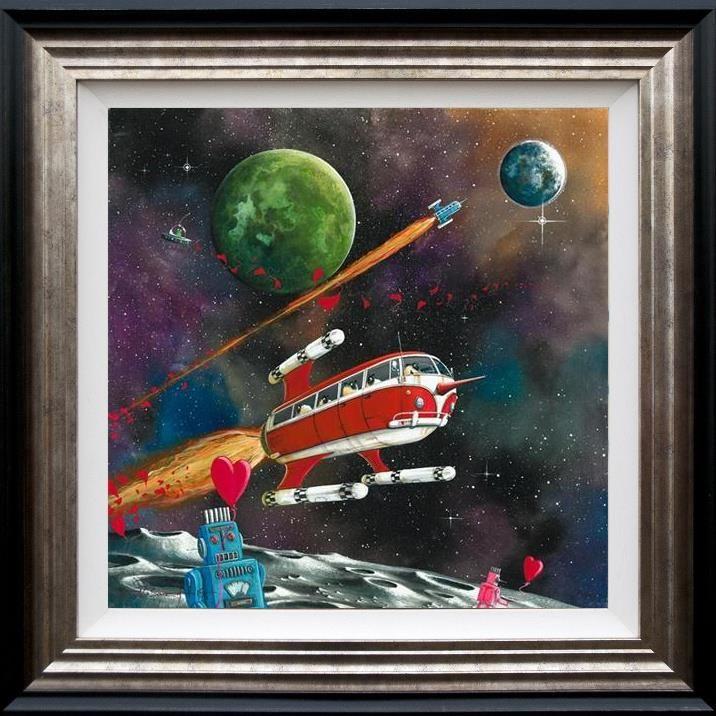 Star Sheep Enterprise (Ewe - Niverse Series) - 3D High Gloss - Framed by Dale Bowen