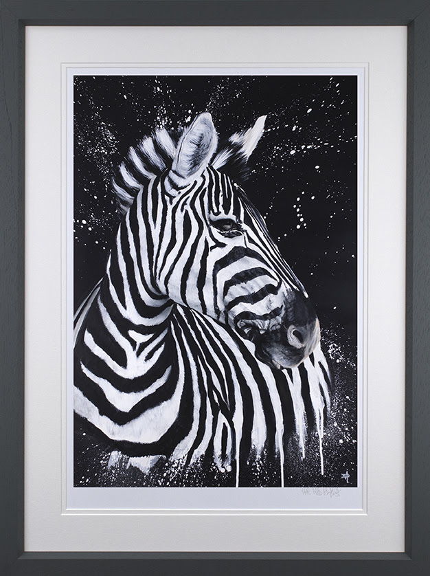 Stripes - Artist Proof Grey - Framed by Dean Martin *Mad Artist