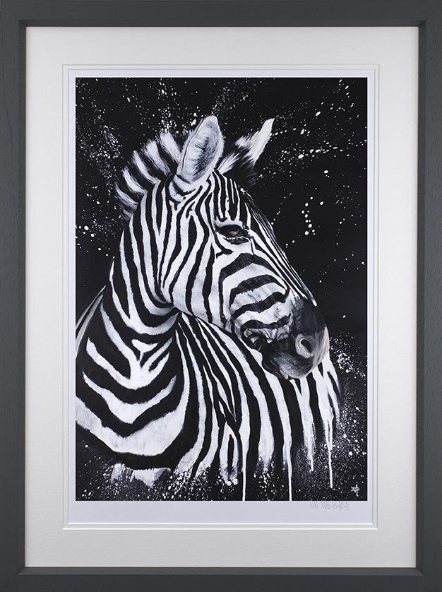 Stripes - Grey - Framed by Dean Martin *Mad Artist