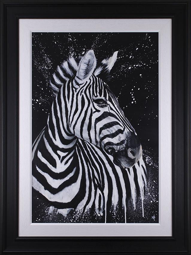 Stripes - Original - Black - Framed by Dean Martin *Mad Artist