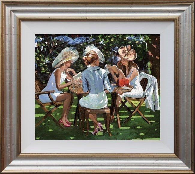 Summer Conversation - Framed by Sherree Valentine Daines