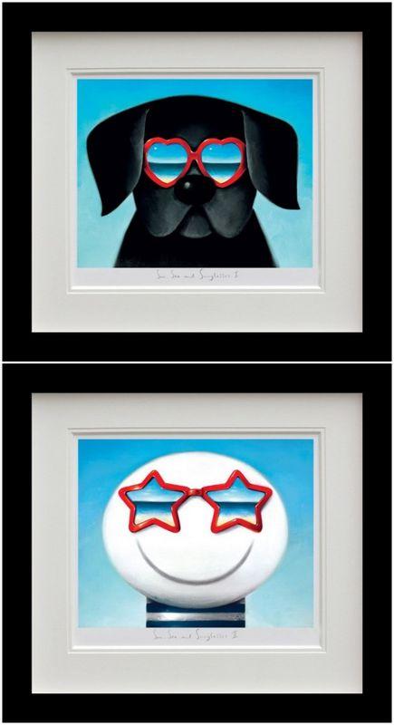 Sun Sea And Sunglasses - Set - Black Framed by Doug Hyde