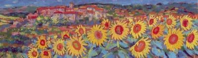 Sunflowers, Simaine - Framed by John Holt