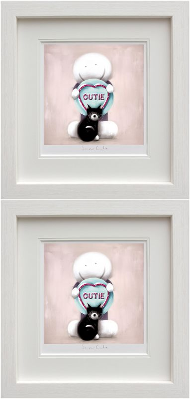 Super Cutie & Best Mate (Set Of 2) - White - Framed by Doug Hyde