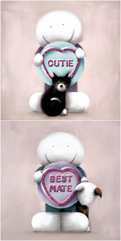 Super Cutie & Best Mate (Set Of 2) - Mounted by Doug Hyde
