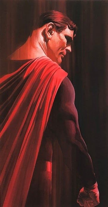 Superman - Shadows Collection - Printers Proof - Mounted by Alex Ross