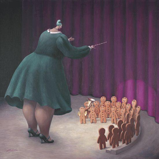 Sweet Music - Canvas - Box Canvas by Sarah Jane Szikora