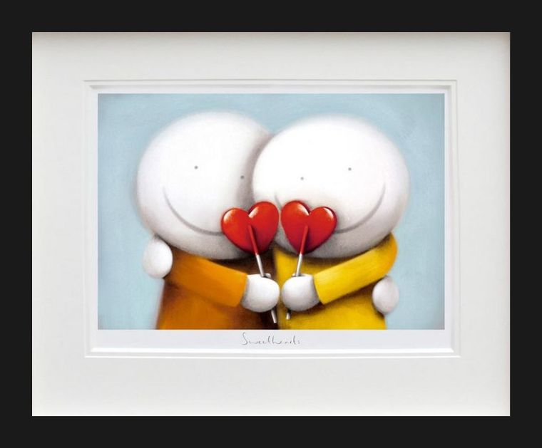 Sweethearts - Black Framed by Doug Hyde