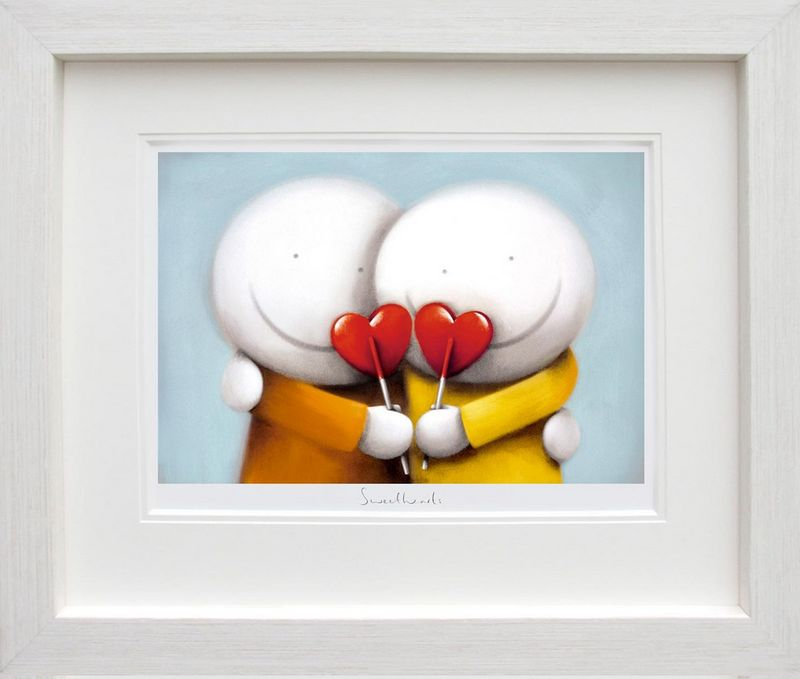 Sweethearts - White Framed by Doug Hyde