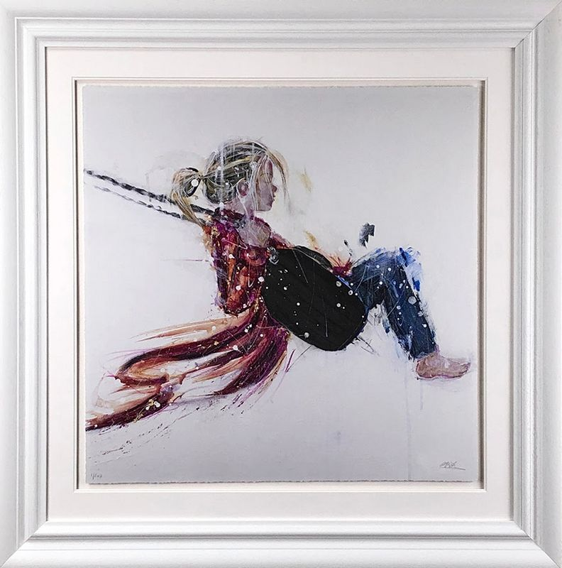 Swing - White Framed by Carly Ashdown
