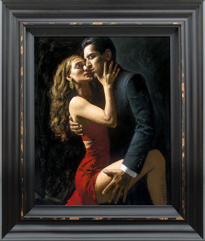 Tango En San Telmo III - Framed by Fabian Perez