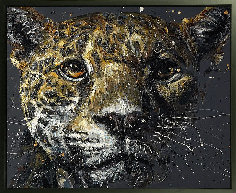 Ted - Canvas - Artist Proof Black Framed Box Canvas by Paul Oz