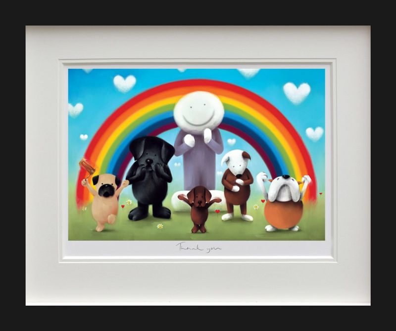 Thank You - Black Framed by Doug Hyde