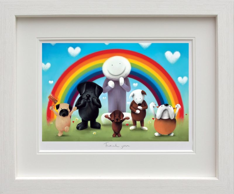 Thank You - White Framed by Doug Hyde