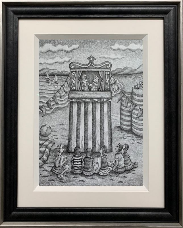 Thats The Way To Do It - Original Drawing - Framed by Paul Horton