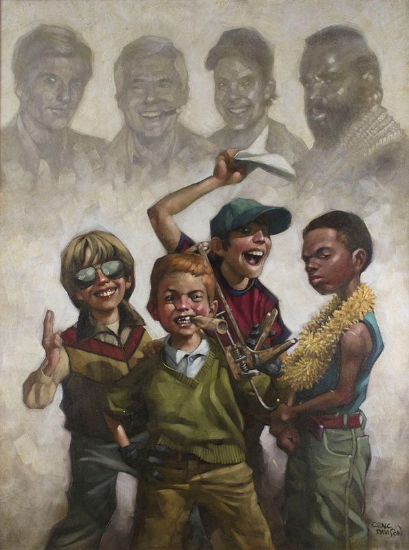 The B-Team - Mounted by Craig Davison