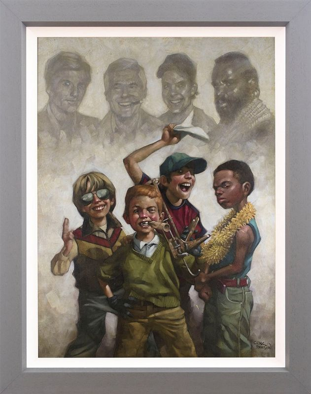 The B-Team - Canvas - Framed by Craig Davison
