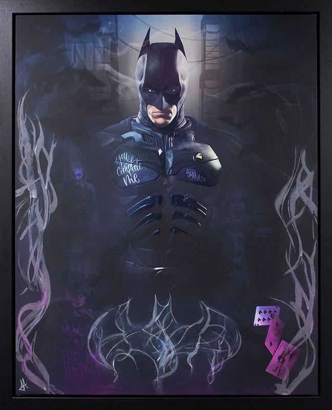 The Bat - Original - Black - Framed by JJ Adams