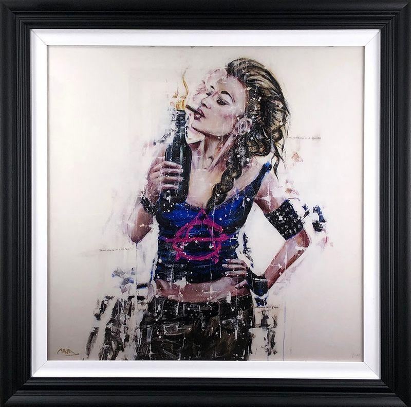 The Battle - Black Framed by Carly Ashdown