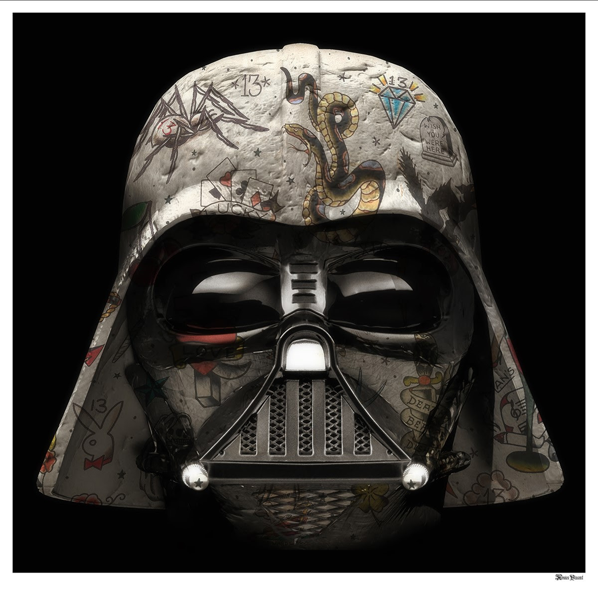 The Dark Lord - Darth Vader (Black Background) - Large - Framed by Monica Vincent