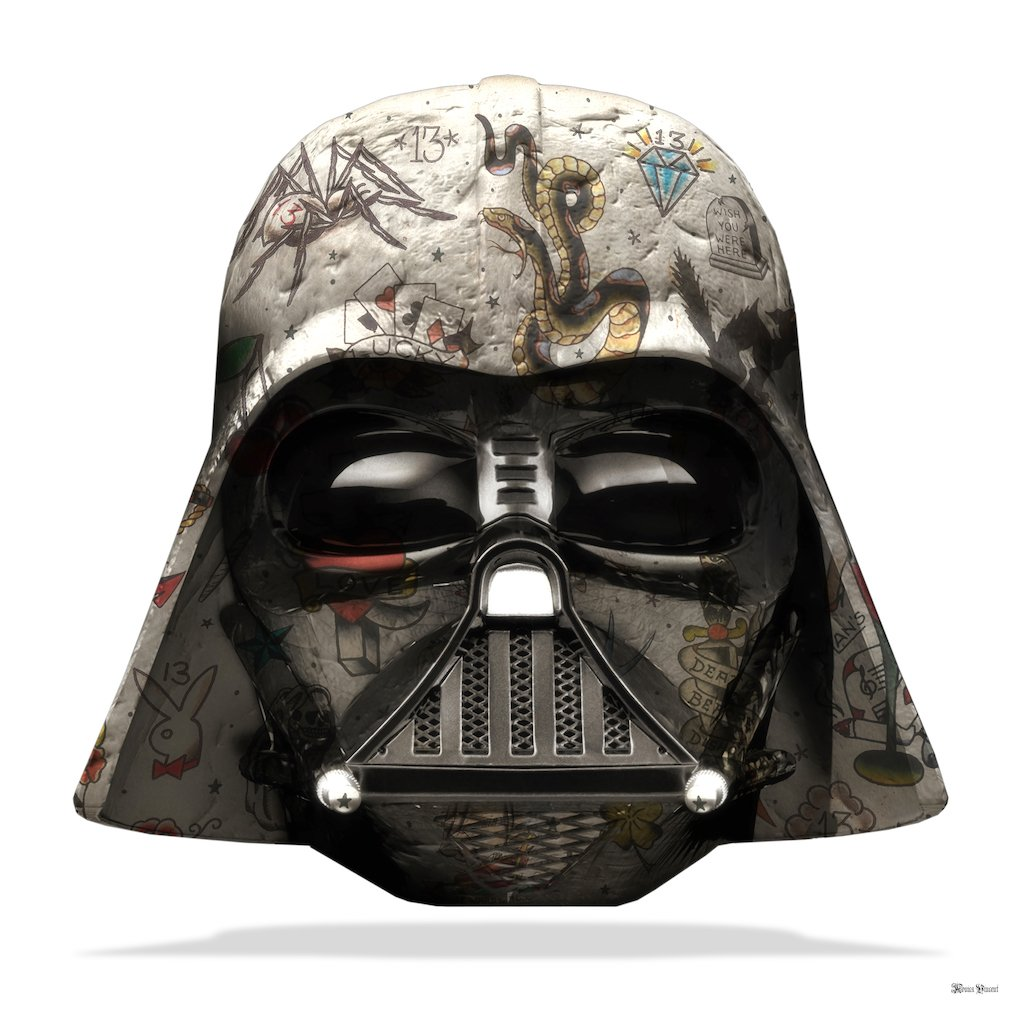 The Dark Lord - Darth Vader (White Background) - Large - Framed by Monica Vincent