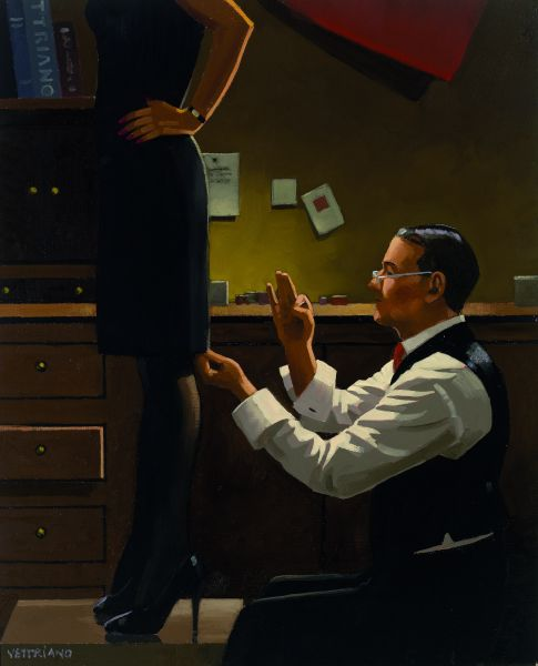 The Devoted Dressmaker by Jack Vettriano