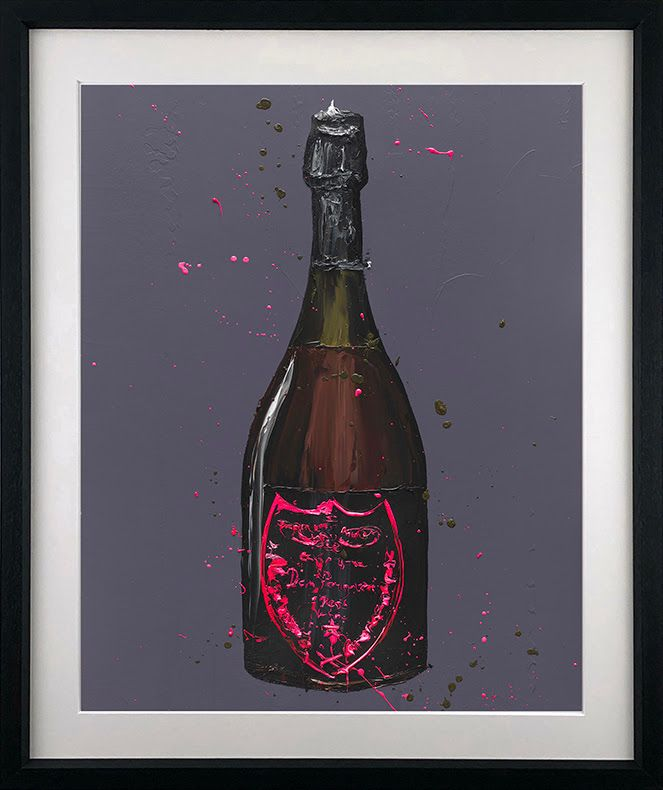 The Dom (Rose) - Artist Proof Black - Framed by Paul Oz