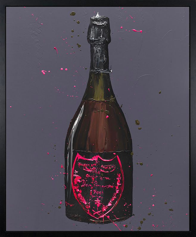 The Dom (Rose) - Canvas - Artist Proof Black Framed Box Canvas by Paul Oz