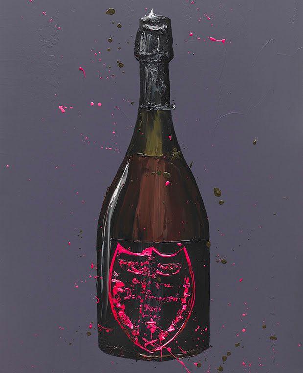 The Dom (Rose) - Original - Black - Framed by Paul Oz