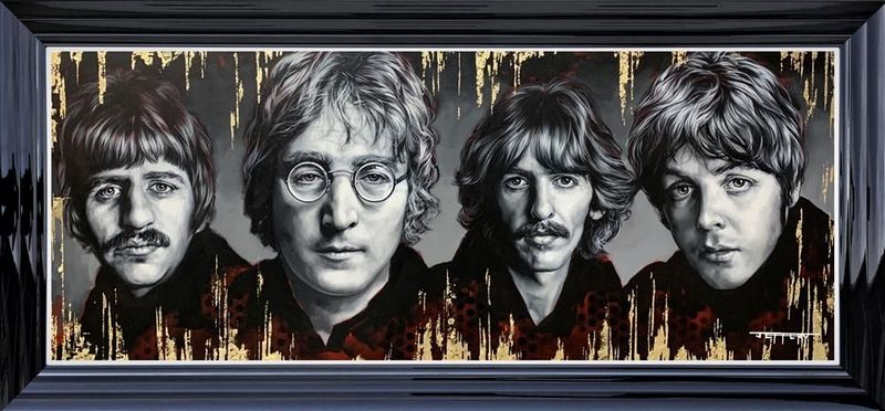 The Fab Four - Limited Edition - Black - Framed by Ben Jeffery